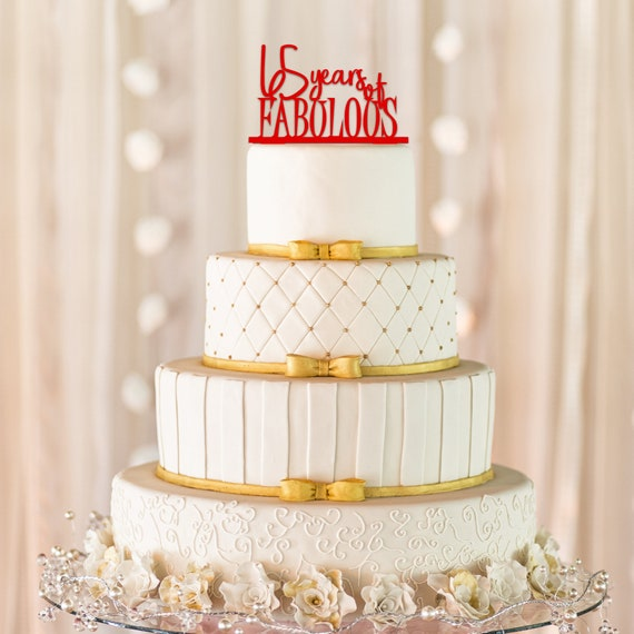 65 Years Of Fabulous Cake Topper And 65th