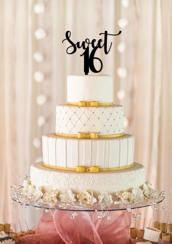 16bday birthday cake topper Sweet 16 cake topper birthday decorations 16 cake topper personalized cake topper custom cake topper