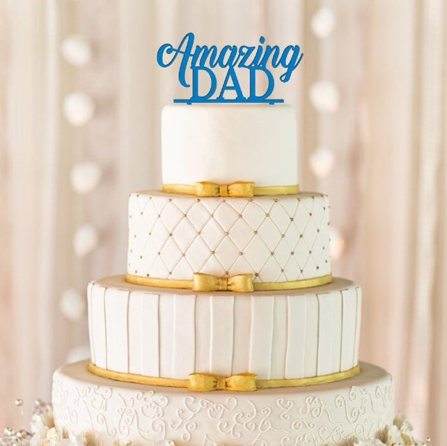 Amazing Dad Cake Topper Birthday Fathers Day Decor