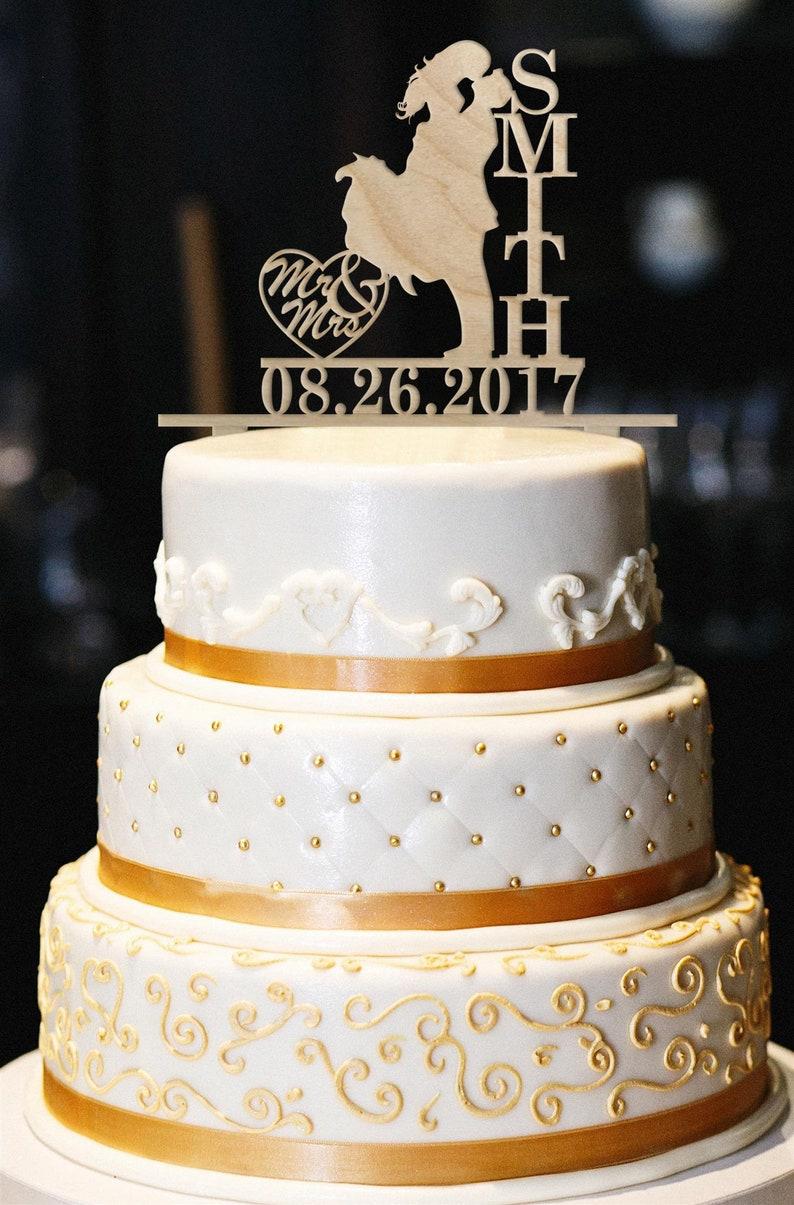 Mr Mrs Wedding Cake Topper Rustic Wedding Cake Topper Etsy