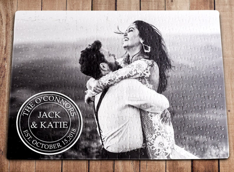 Personalized Puzzle Wedding Gift Anniversary Gift image 1