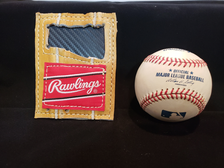 e01d0905b7 Repurposed baseball glove wallet front pocket wallet