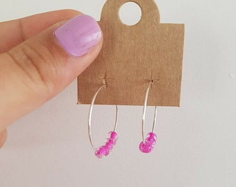 Small Hoops (PINK)