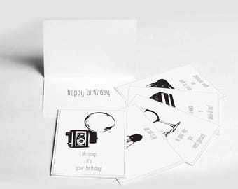 Set of 6 Punny Birthday cards, greeting cards, punny cards, pun cards, modern cards
