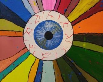 Eyeball rainbow painting