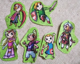 Toon link iron on patch pack