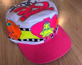 2a655dfb11c Vintage 80s 90s Looney Tunes Painters Cap Hat