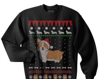 7db6f748 Corgi Ugly Christmas Sweater, Christmas, Corgis, Dogs, Animals, Cute