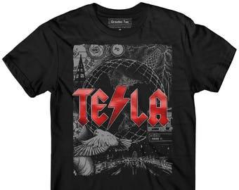 Nikola Tesla t-shirt, Illustration, ACDC t-shirt, Free Energy, Engineer t-shirt