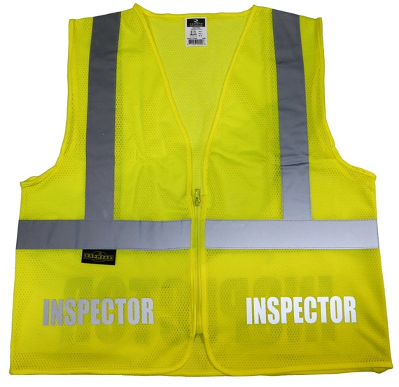 Inspector Vest Safety DesignHigh Visibility Reflective With xCreWdoQB