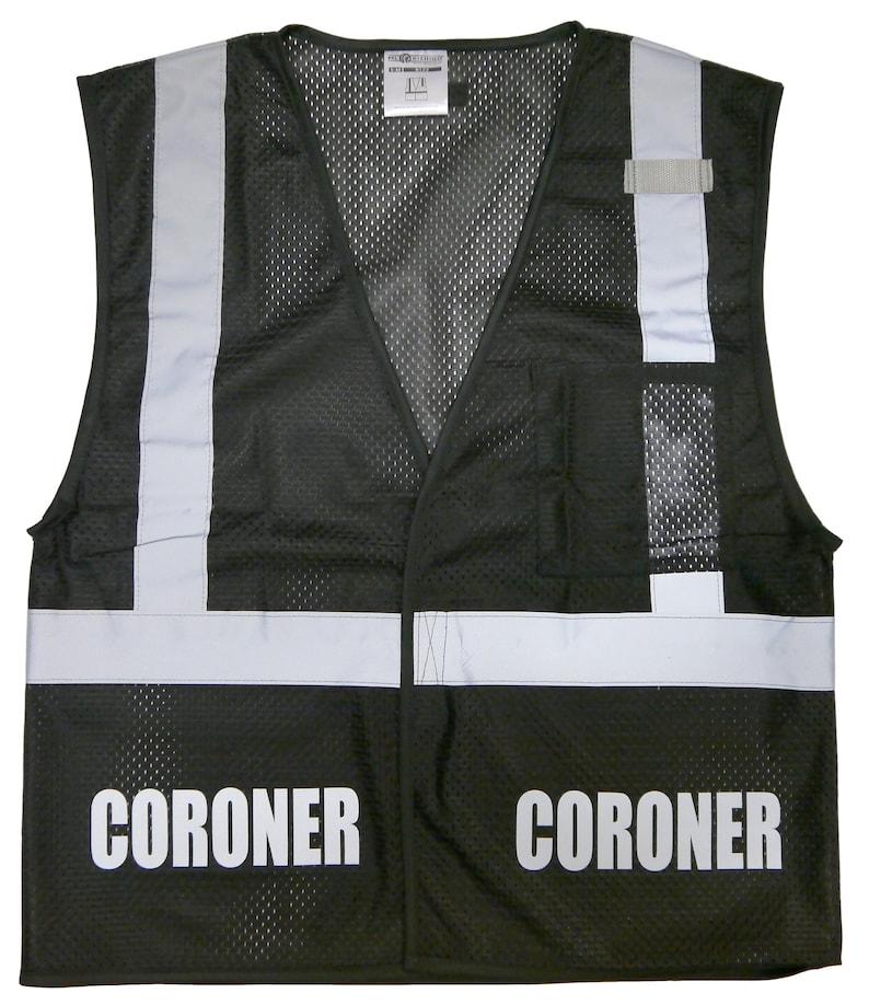 Coroner safety vest black REFLECTIVE design High Visibility  e88e027b3bb