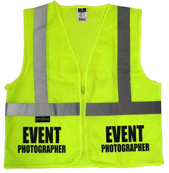 Confezione da 10-Personalizzato Custom Printed Hi Viz Gilet Panciotto di sicurezza Work Wear