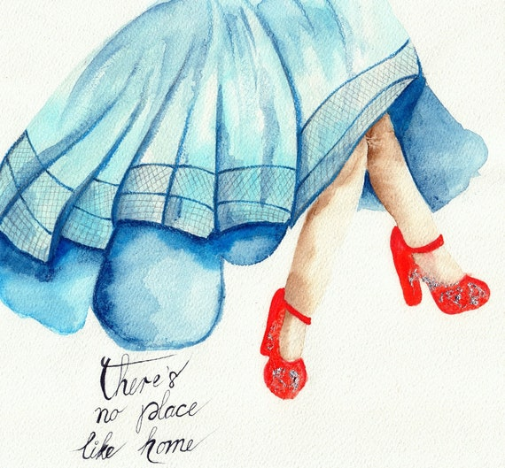 Wizard of Oz art print / Ruby slippers