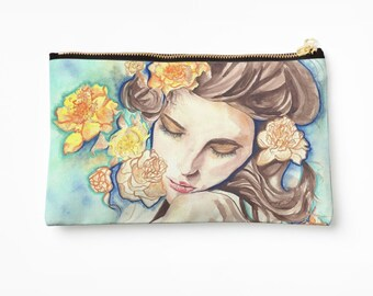 cosmetic bag / my original art on case / makeup bag / travel bag / toiletry bag / gift for her / gift for woman / birthday gift
