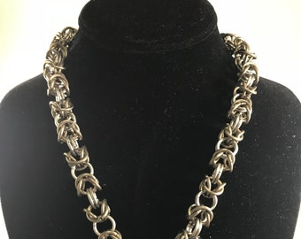 Custom Titanium Byzantine Pup BDSM Collar