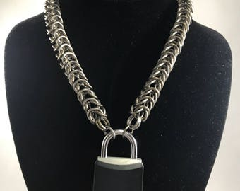 Titanium Box Chain Collar