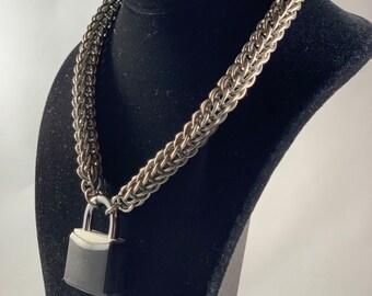 Titanium full Persian pup BDSM Collar