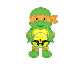 Bleu Tortue Ninja Applique Machine Broderie Design 3 Tailles 4 Etsy