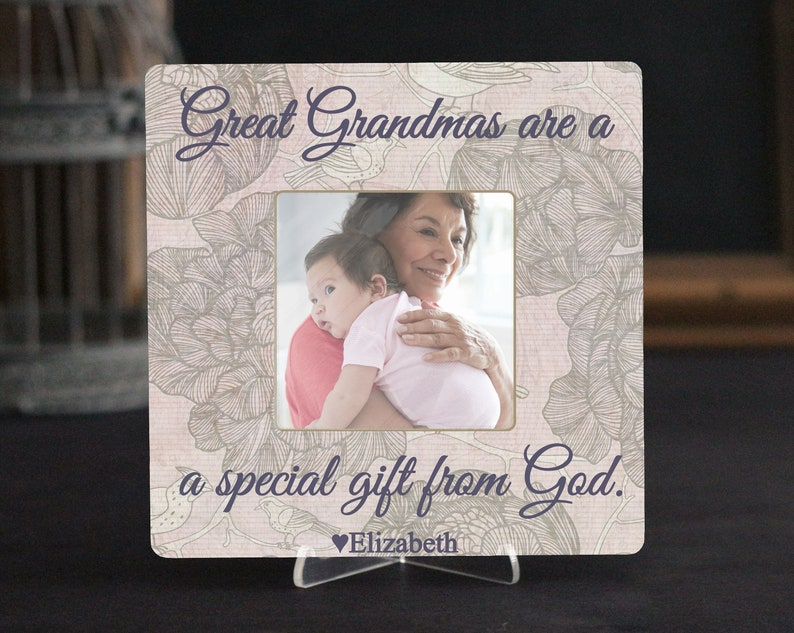 Personalized Quote Great Grandma Picture Frame GIFT  Great Grandma Christmas Gift Great Grandmas are a Special Gift From God