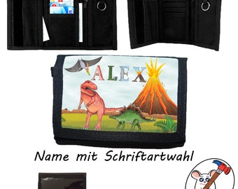 Children's Wallet with Name / Dino / Wallet / Customizable / T-Rex / Stegosaurus
