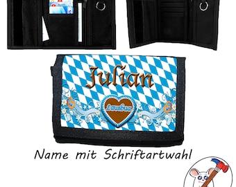 Children's wallet with name / Lausbua - Purse / Customizable / Bavarian