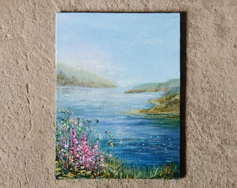Summer Mediterranean landscape // oil painting // 15x20 cm