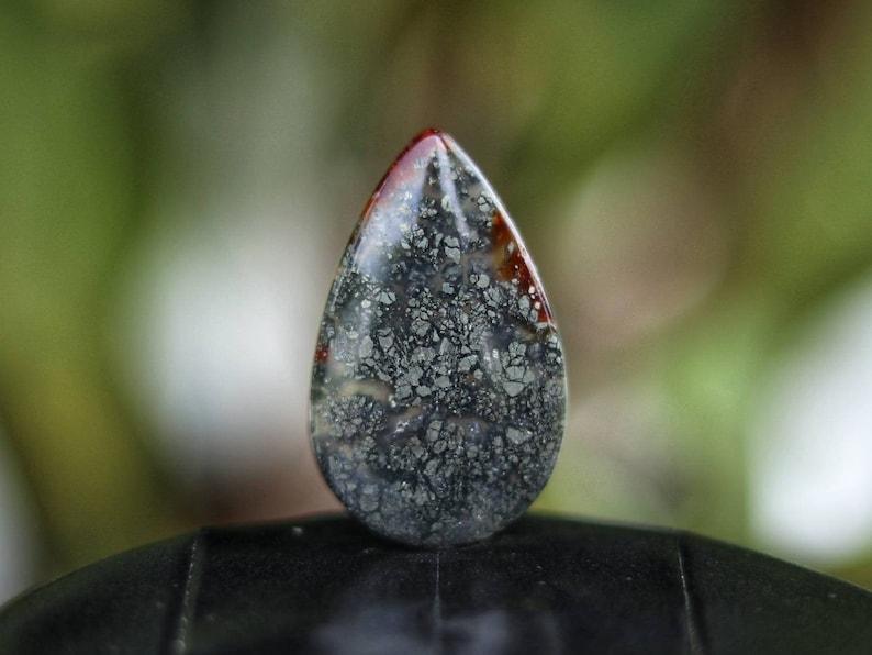 Pearshape Agate Marcasite Stone Cabochon Marcasite Teardrop