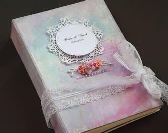 Cinderella Guestbook Wedding Purple Blue Photo Album Pastel Guestbook Shabby Writing Journal for Her Wedding Decoration Good Idea