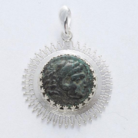 Ancient Greek Coin Pendant Herakles(Hercules)