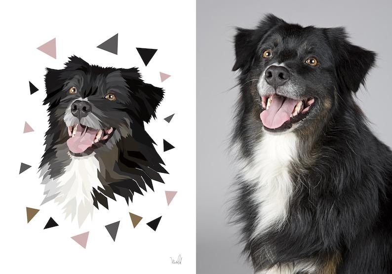 Custom Dog Portrait Digital Custom Pet Portrait Dog Portrait image 0