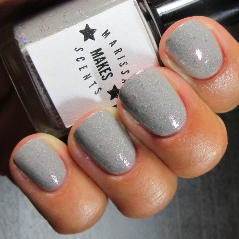 Vampire Sunburn-grey flakie scented nail polish | Etsy