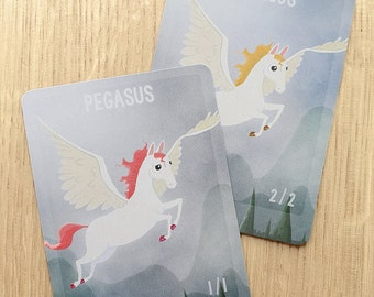 Pegasus double sided custom Token for Magic the Gathering, MTG