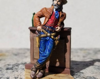 1:32 Tin Toy Soldier American Cowboy Wild Old West Metal Figurine Texas Souvenir