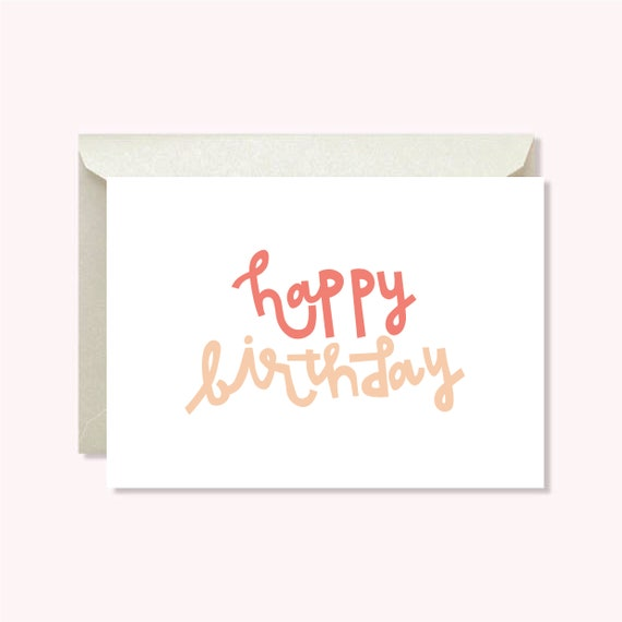 picture regarding Happy Birthday Lettering Printables named Printable Content Birthday Card - Hand Lettering - Electronic Obtain - Fast Obtain - Card for Her - Card for Woman - For Mother - For Buddy