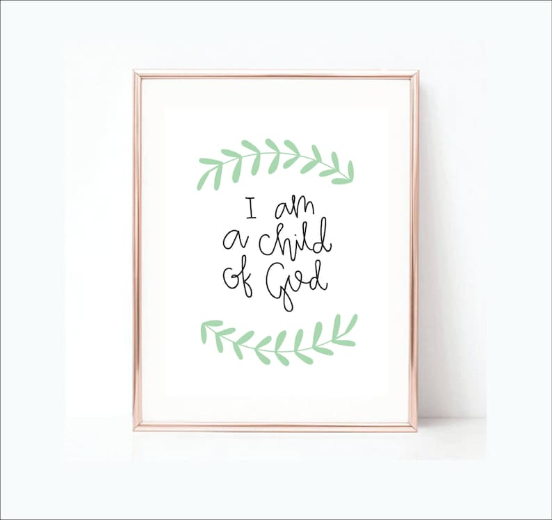 photo relating to I Am a Child of God Printable titled I am a Little one of God Printable - LDS Estimate - Immediate Down load Estimate - Printable Artwork -