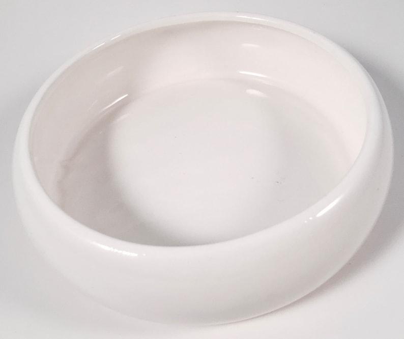 Made in Japan Taste Seller by Sigma White Glaze Vintage Retro Mid Century Modern Ceramic Pet Bowl Food or Water Bowl