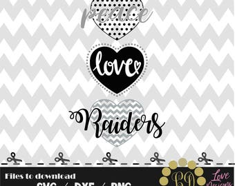 Peace Love raiders svg,png,dxf,shirt,jersey,football,college,university,decal,mom,texans,nfl,texas,files cricut,patriots,dallas,decal,york