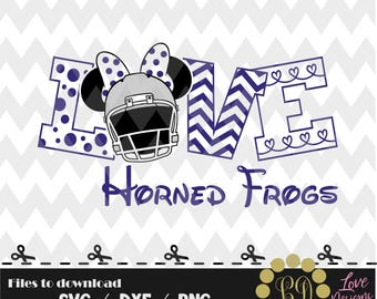 Love Horned Frogs svg,png,dxf,shirt,jersey,football,college,university,decal,proud mom,texans,nfl,texas,files,TCU,houston,dallas,longhorns