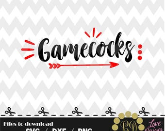 Gamecocks svg,png,dxf,cricut,silhouette,college,jersey,shirt,proud,cut,university,football,disney,decal,baseball,basketball,south carolina