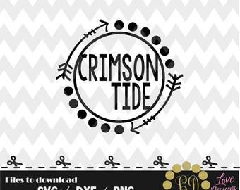 Crimson Tide svg,png,dxf,cricut,silhouette,college,jersey,shirt,proud,bama,roll tide,alabama,cutting,decal,monogram,circle,champions 2018