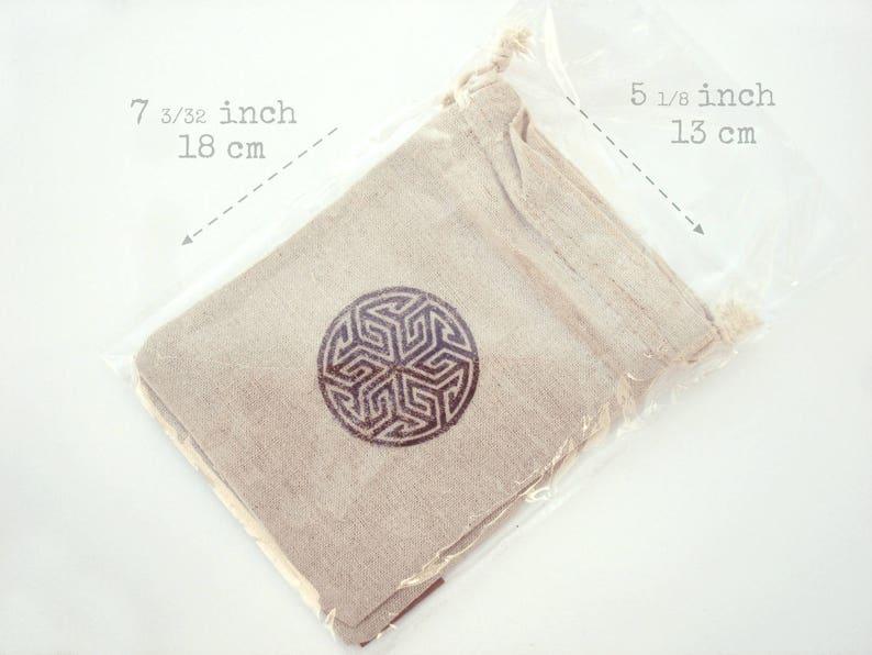 Sea Snail Pouch Bag Rustic Cotton 13x18 cm