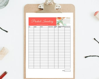 Etsy Seller Product Inventory Tracker and End of Year Inventory Count Printable