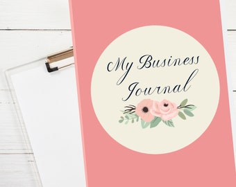 Paperback Business Journal for Small Business Owners, Weekly Prompts, Goal Setting, Undated, Room to Write, Mompreneurs, Side Hustlers