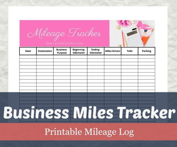 business mileage tracker mileage tax deduction business etsy