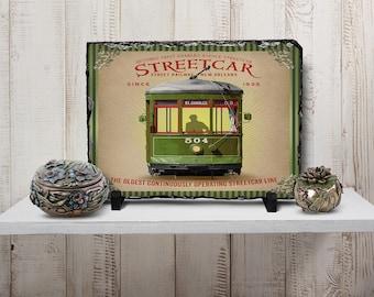 Slate - 12x8 Rectangle - Wagon - French Quarter Collection - New Orleans Art - Custom Slate Photo - Home Decor