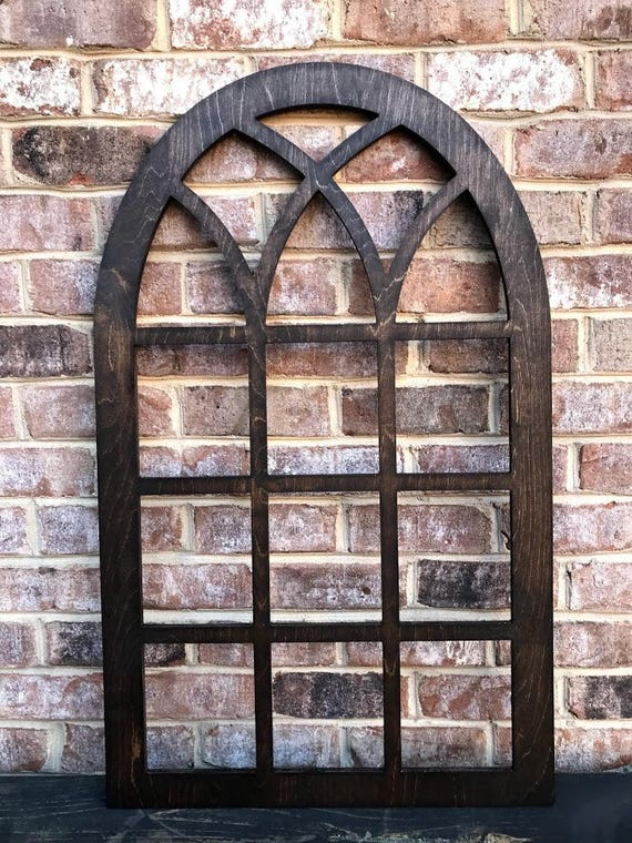 Arched Window Frame Faux Farmhouse Frame Arched Stained Etsy