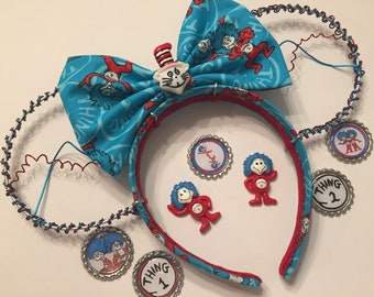 Thing 1 Thing 2 wire Mickey ears