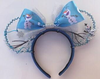Olaf Frozen wire Mickey ears