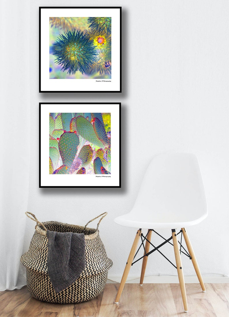 Palm Springs Retro art 2 piece wall art color desert poster boho decor abstract decor contemporary print colorful cactus prints