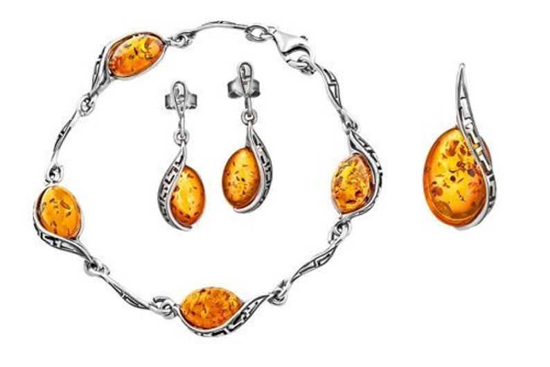 d07a6f208b48db Polish amber jewelry-sterling silver jewelry set047   Etsy
